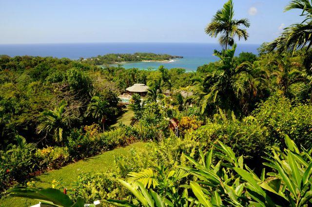 Uitzicht bij Fern Hill hotel