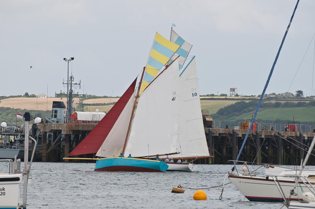 Wedstrijdje in de haven van Falmouth