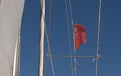 Het Engelse gastenvlaggetje
