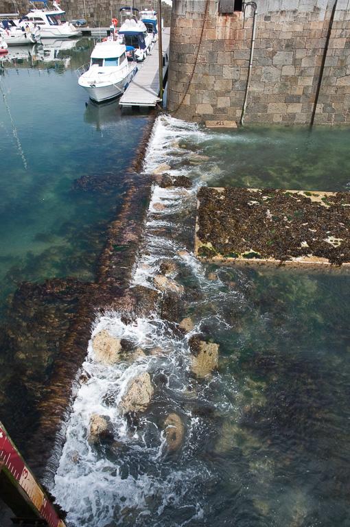 Haveningang bij laag water